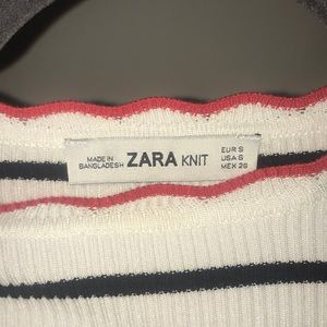 Zara Sweaters - Zara knit striped short sleeve sweater